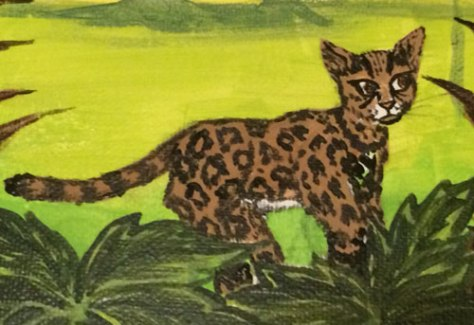 This little guy is a margay -- a type of small wildcat native to the Amazon rainforest.