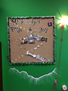 Twinkly display board.