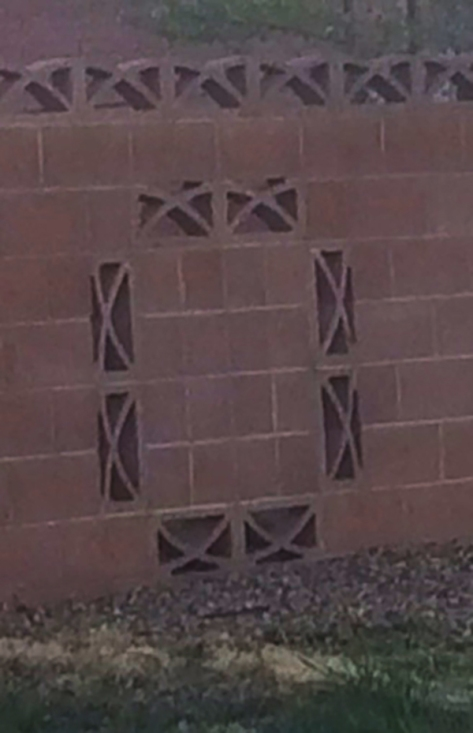 Breezeblocks in a concrete wall